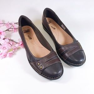 Clarks Collection Soft Cushion Brown Flats Size 10